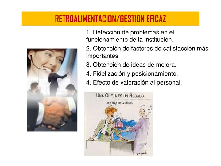 RETROALIMENTACION/GESTION EFICAZ