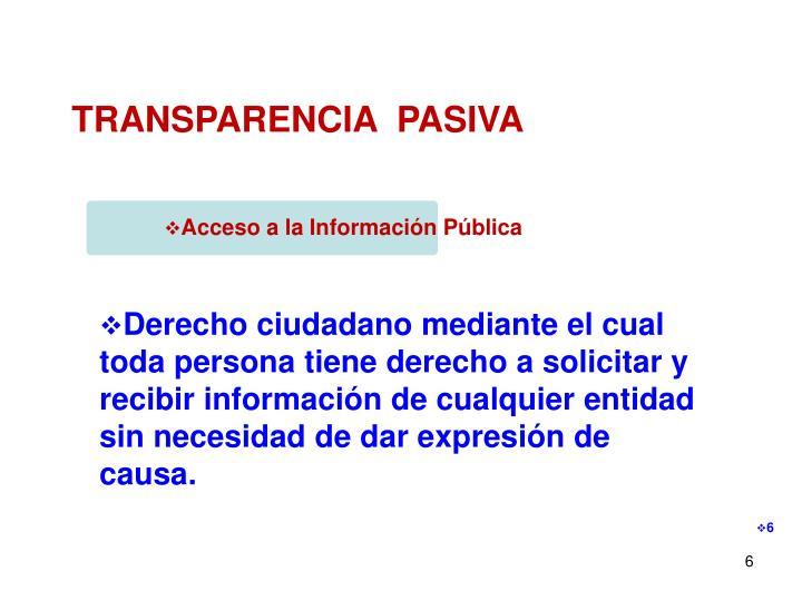 Acceso a la Información Pública