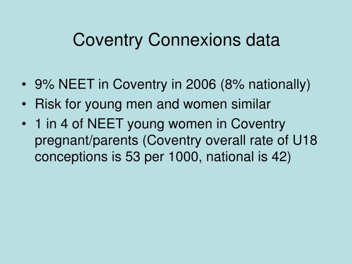 Coventry Connexions data