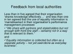 feedback from local authorities2