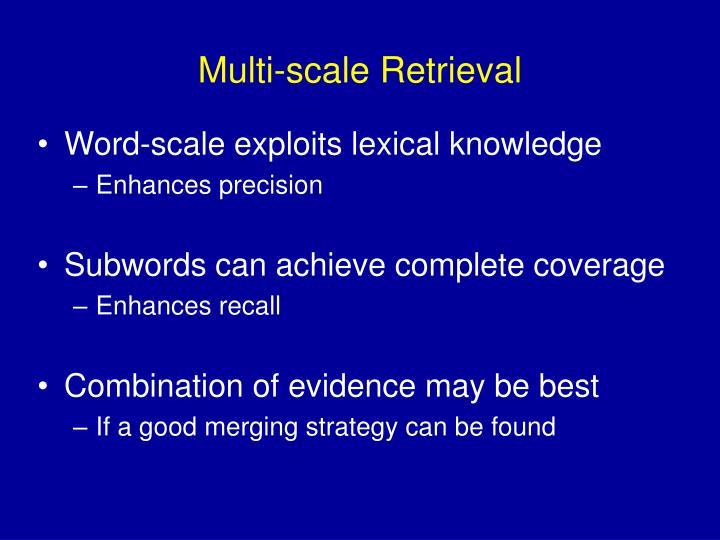 Multi-scale Retrieval