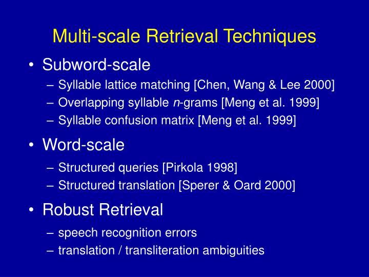 Multi-scale Retrieval Techniques