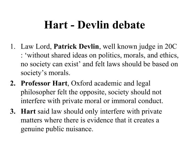 Hart - Devlin debate