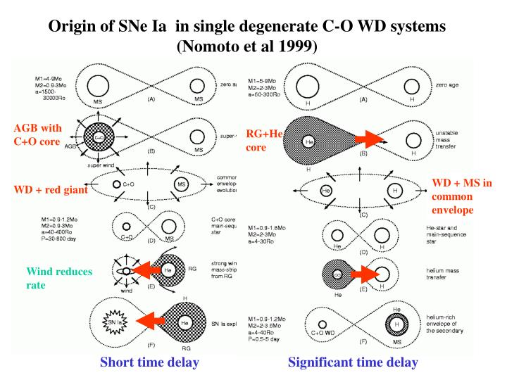 Origin of SNe Ia  in single degenerate C-O WD systems (Nomoto et al 1999)