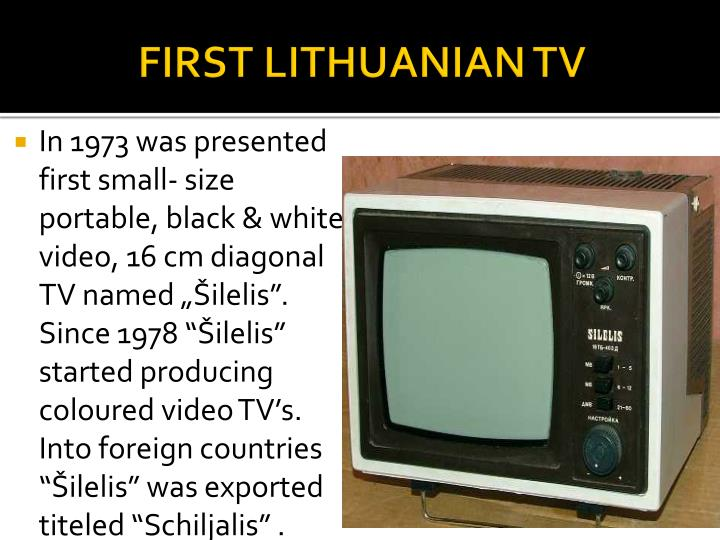 FIRST LITHUANIAN TV