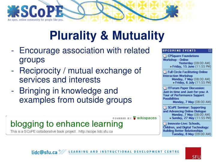 Plurality & Mutuality