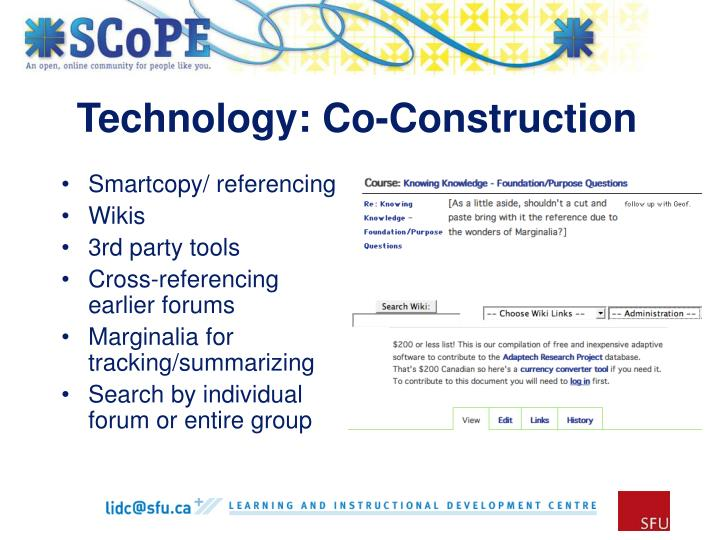 Technology: Co-Construction