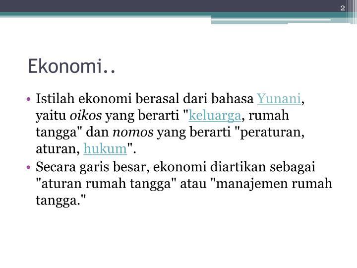 Ekonomi..