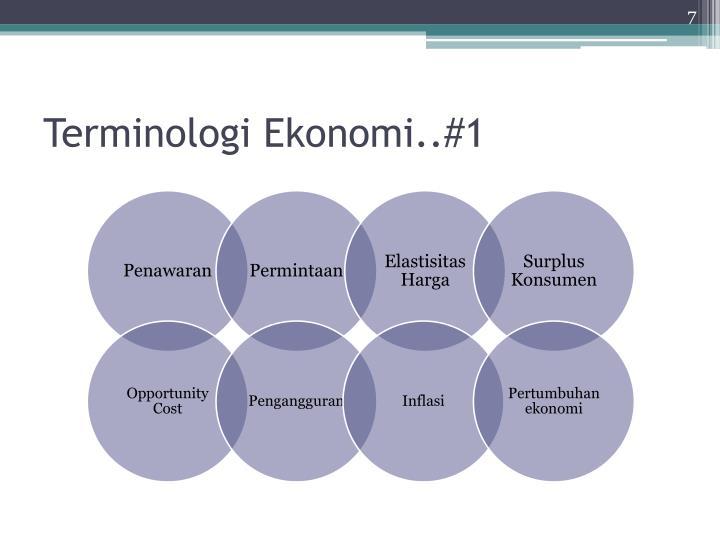Terminologi Ekonomi..#1