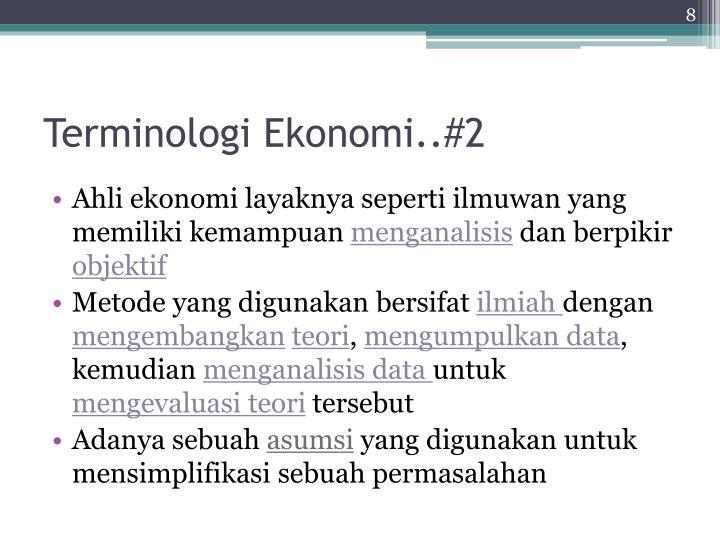 Terminologi Ekonomi..#2