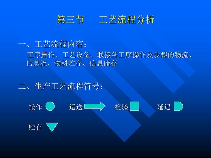 第三节      工艺流程分析