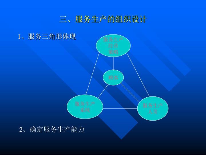 三、服务生产的组织设计