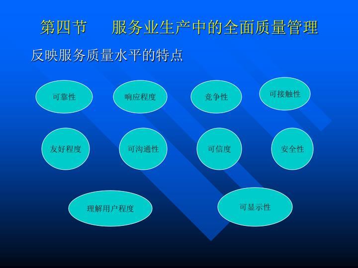 第四节      服务业生产中的全面质量管理