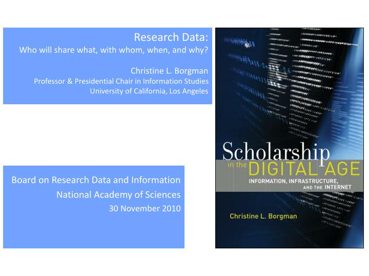 Research Data: