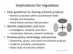 implications for regulation