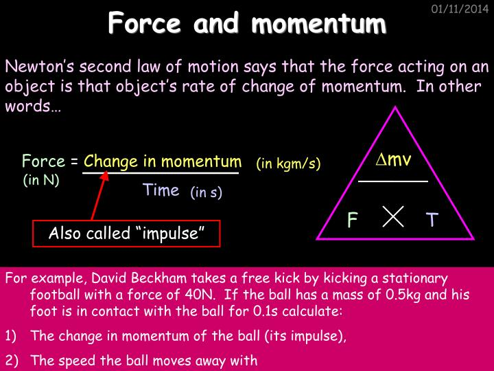 Force and momentum