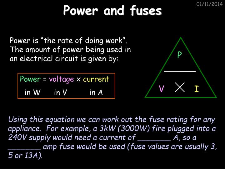 Power and fuses