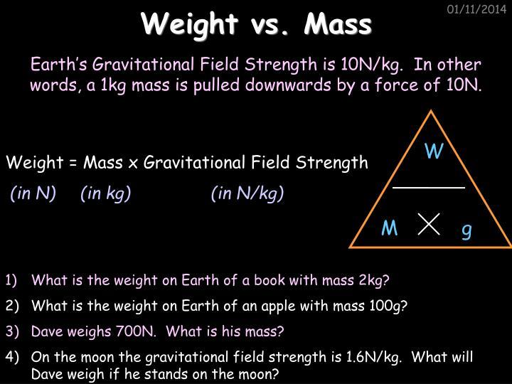 Weight vs. Mass