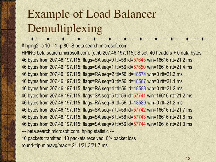 Example of Load Balancer Demultiplexing