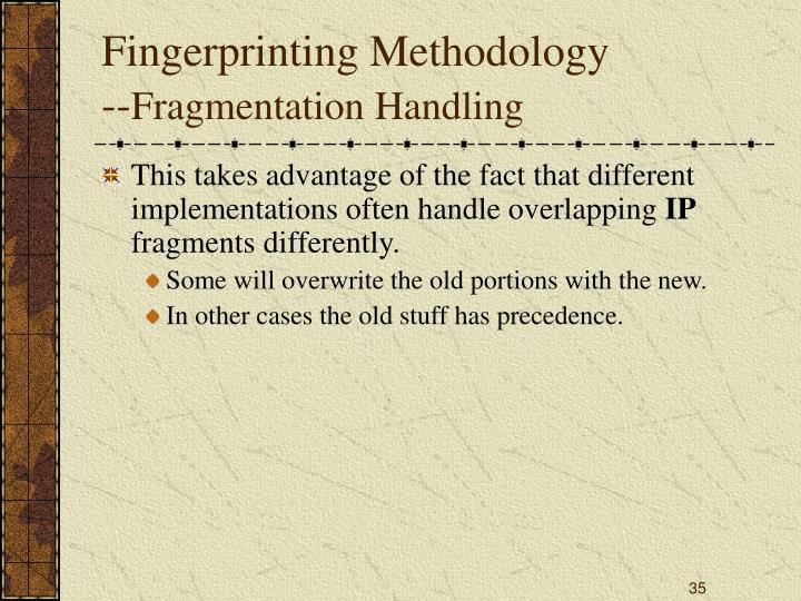 Fingerprinting Methodology
