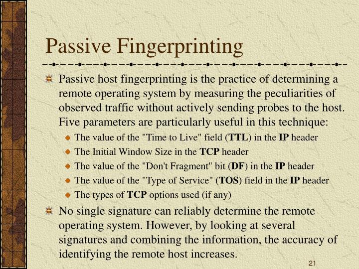 Passive Fingerprinting