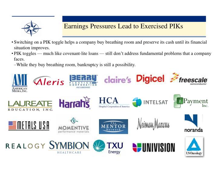 Earnings Pressures Lead to Exercised PIKs