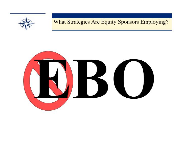 What Strategies Are Equity Sponsors Employing?