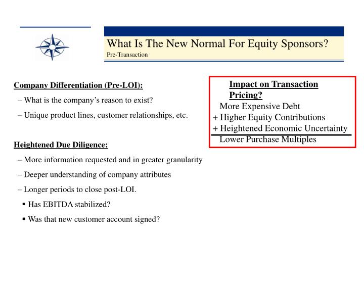 What Is The New Normal For Equity Sponsors?