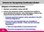 scheme for recognizing certification bodies3