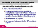 scheme for recognizing certification bodies4