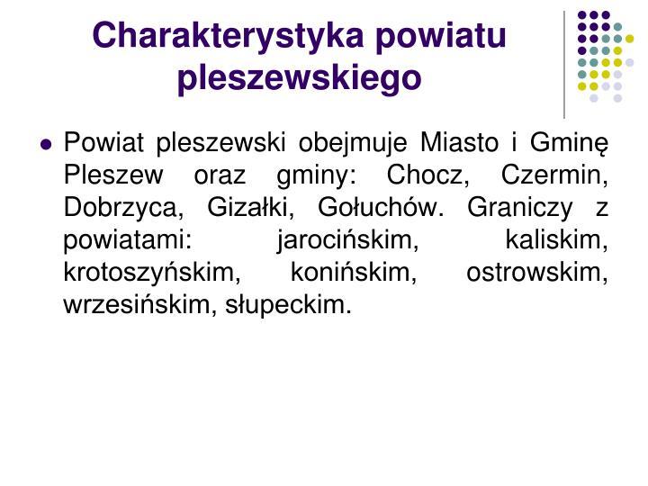 Charakterystyka powiatu pleszewskiego
