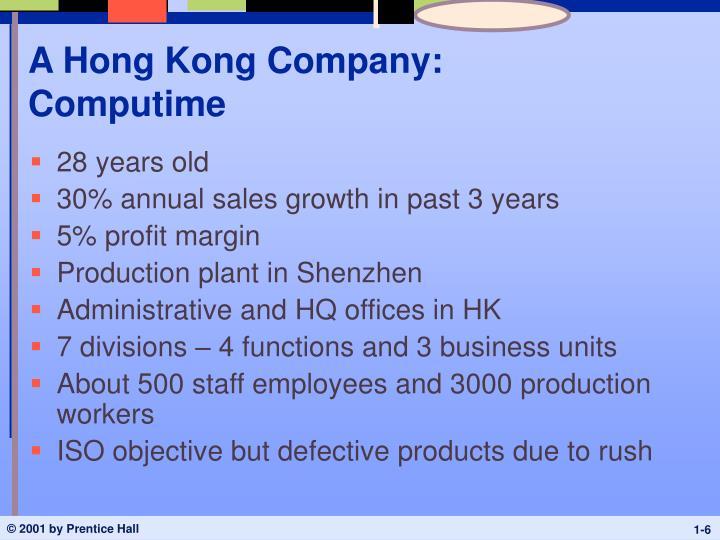A Hong Kong Company: Computime