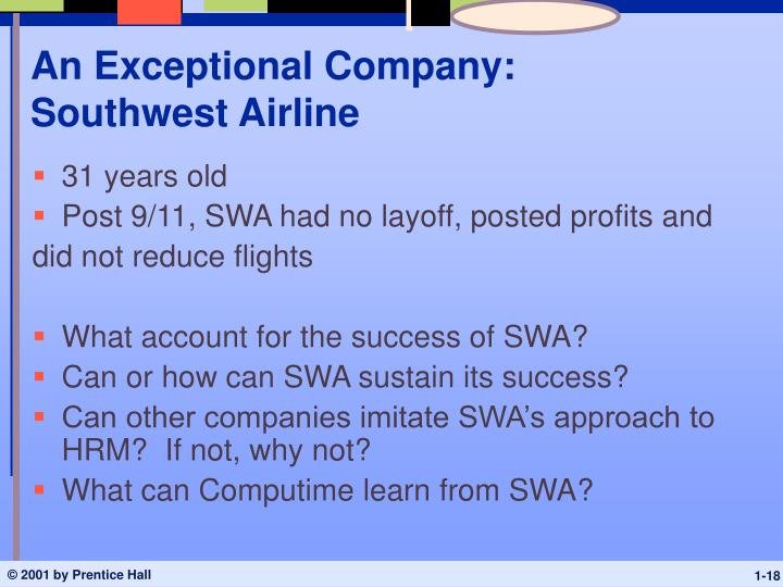 An Exceptional Company: Southwest Airline