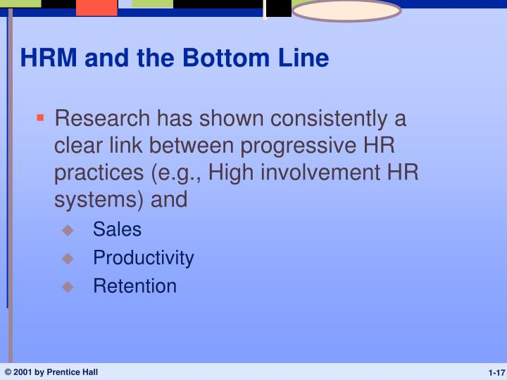 HRM and the Bottom Line