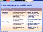 influence environment on hrm cont