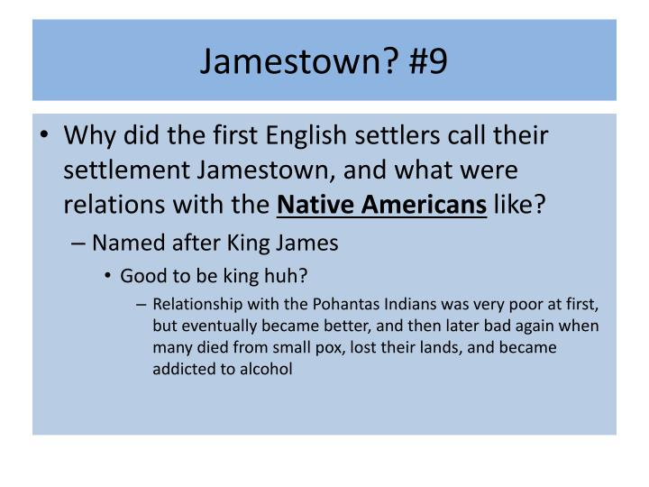 Jamestown? #9