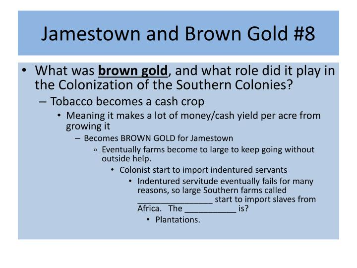 Jamestown and Brown Gold #8