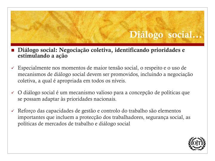 Diálogo  social...