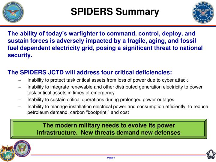 SPIDERS Summary