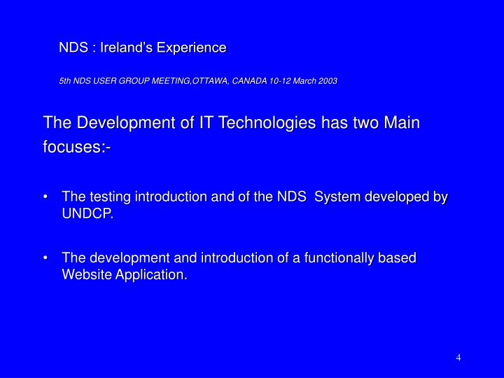 The Development of IT Technologies has two Main