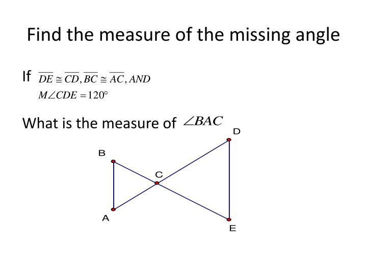 Find the measure of the missing angle