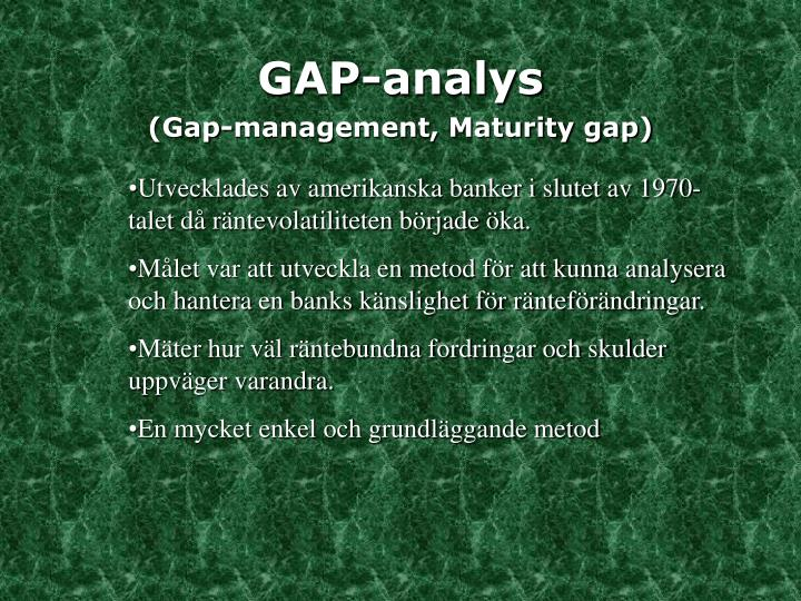GAP-analys