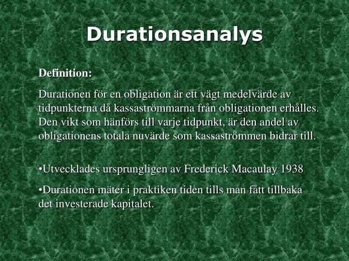 Durationsanalys
