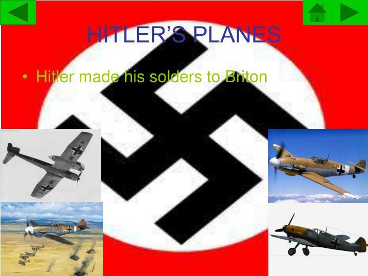 HITLER'S PLANES
