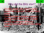 why did the blitz start