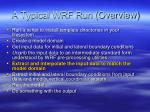 a typical wrf run overview2