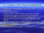 a typical wrf run overview4