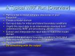 a typical wrf run overview5