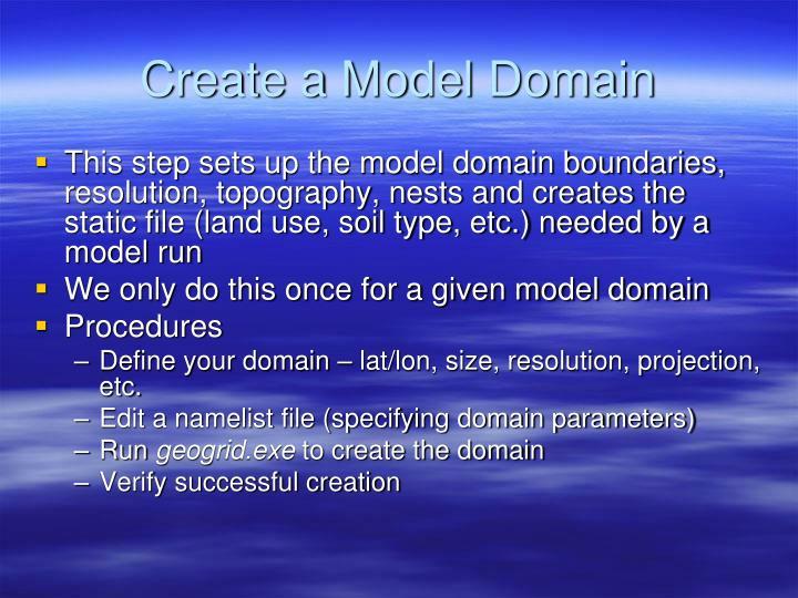 Create a Model Domain