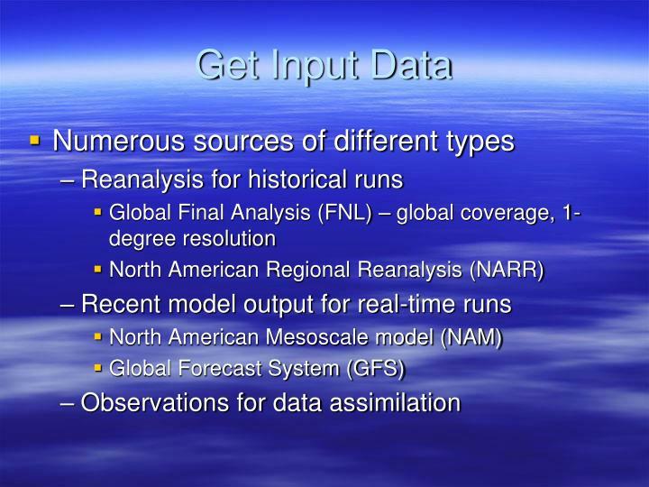 Get Input Data
